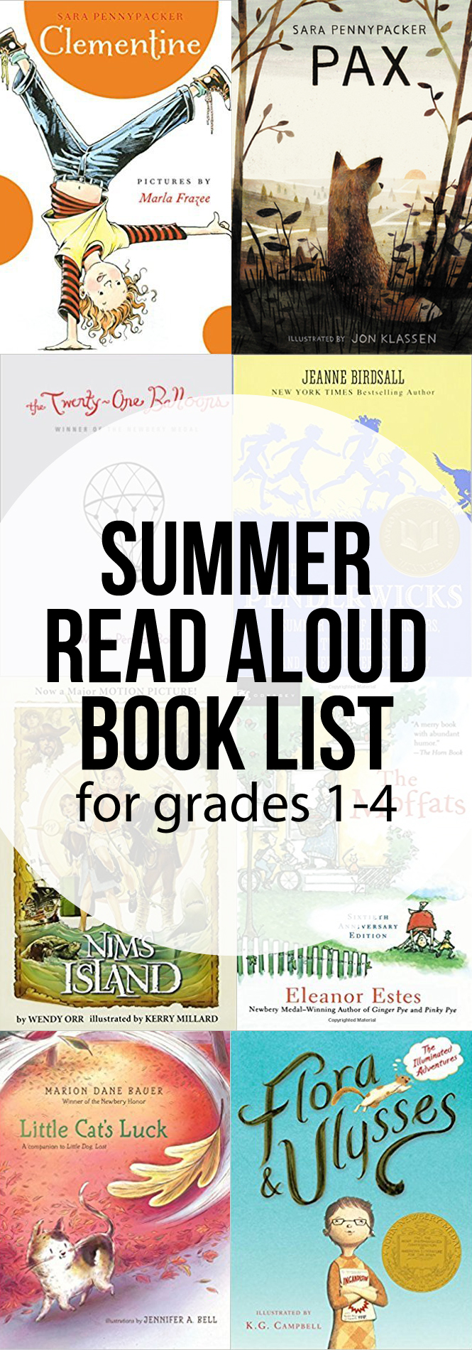 Elementary Summer Novel Read Aloud List